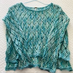 Free People Multi Color Knit Sweater Size Small